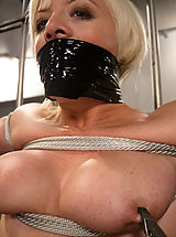 Naked Fetish, Feisty blonde is tied gagged and dunked