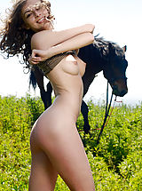 Naked Teens, Awesome Angel with a Horse