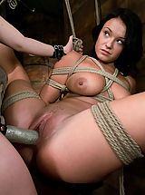 Fetish Pics: Girl in first time bondage and domination.