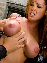 Fetish Nippels, Glamour model Christina Carter bound, tortured and made to cum.