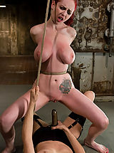 Fetish Pics: Berlin gets her giant tits shocked and bound