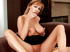 Bumps on Areola, Nicole moore explores her erogenous zones with her talented milf fingers