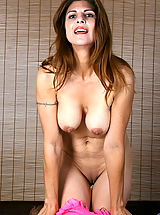 Nipples, Busty Anilos cougar strips off her lingerie and explores her hot milf pussy with her fingers