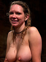 Erect Nipples, Rain takes hard painful whippings. Her ass takes a beating and nipples are suctioned to swell. Quivering from exhaustion, she is vibed into orgasm.