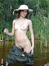 Teens Nippels, Girl Fishing Naked
