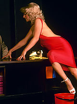 Classy girl from the sixties seduces her boss