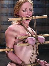 Naked Fetish, Busty blonde beauty is bound, gagged and tormented with water.