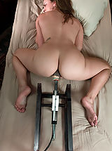 Kink Nippels, Young hot blonde gets railed in her tight pussy by fast machines.