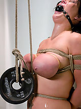 Fetish Nippels, Huge Tits tied up and abused! Naked shaved slut punished.