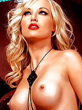 Nipples Pics: Kayden Kross in the sexiest Photo shoot ever! Red lips & black stockings, mmmmm!