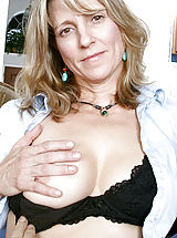 Milf Nippels, Blonde Anilos cougar Berkley shows off her perky tits and dripping pussy