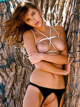 Big Nipples, Hot babe Meggan Mallone gets tied and teased!