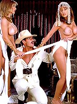 Suze Randall Nippels, Cierra Knight and Leena are yummy mummies cum alive to take on Indiana Jones for a deep archaeological dig that's gone down in XXX history!