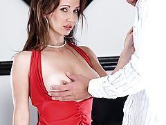 Sensitive Nipples, Brunette milf babe gives an excellent blow job