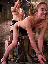 Naked Kink, Two hot doms gang up on Jade Marx and force her to cum with electricity!!!