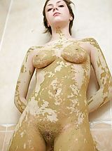 Hairy Pics: Celesta needs a volunteer to help wash the mud off her body