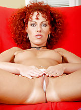 Naked Anilos, Lovely milf shantie massages cream into her perky milf tits