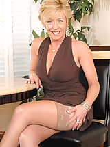 Naked Milf, Hot tempting blonde Chanel torments her cougar snatch with a huge black vibrator