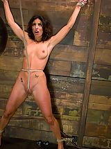 Fetish Nippels, Petite, brunette MILF bound, punished and force to cum!
