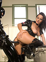 Naked Fetish, Sandra Romain plays kinky medical games with her latex fuck slave