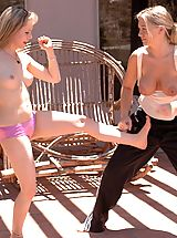 Naked Big.Tits, Fiona Luv play fights with Alison
