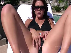 Puffy Tits, Cadence plays with her wet pussy