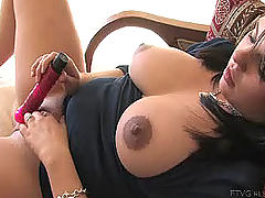 Julie fucks her new dildo