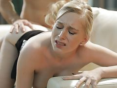 naked boobs, Join blonde babe Stacie Jaxxx as she fucks her man and then takes his big dick between her big perky tits until he cums