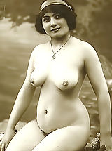 Forgotten European Nude Photography from 1850 to 1920 Featuring Lewd Naked Girls Posing On VintageCuties.com