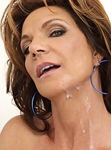 women hard nipples, Busty cougar Deauxma seduces younger guy and makes him fuck her pussy and ass.