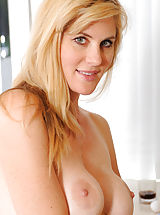 women with hard nipples, Hottie Anilos Kate Kastle spreads her legs wide open to show her pink pussy