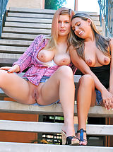Big Nipples, Renna Plays with Danielle