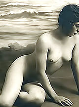 young naked, Retro Women