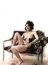 naked tits, Retro Style Woman