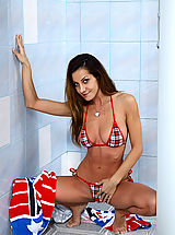 Hottie Alice Romain Takes a Shower - 5/7/2013