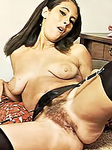 naked girls, Hairy Pussies of Wide Leg Spreading Women of 60's - Natural Girls Teasing Men to Fuck Them with Huge Creampies