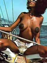 tender nipples, Naked ebony vintage porn star with perfect big tits and amazing hairy bush spreading their vagina big nipples how
