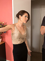 How to make your Nipples hard, Gorgeous babe Jenni Lee is horny and decides to cheat on her boyfriend with his son!