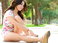 Eliana flowery outdoors