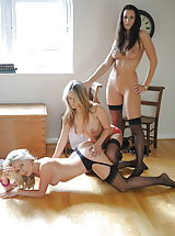 Lesbians Nippels, Students Candine Collyer and Friends