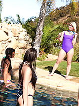 Sapphic Erotica Nippels, Ash Hollywood finished her swim when she decides a hot fuck in the sun would be fun