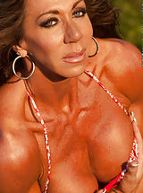 Lynnie Brooks, Tanned and Fit