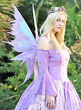 Danielle in a fairy suit