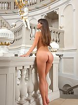 Naked Femjoy, Lorena G. does female masturbation in The Empress
