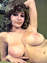 Vintage Dress, Joyce Gibson Aka Alexis Love - Big Busty Queen of the 70's Posing Fully Nude Hairy Cunt Is Visible Nice Hard Nipples