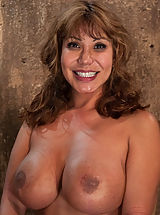 Kink Nippels, Hot MILF with huge tits, bound and made to suck cock! Elbows together, crotch rope and a good face-fucking. Left on floor to struggle for freedom.