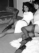 Vintage Nippels, The Sweetest Vintage Nylon And Underwear Fetish Photos Of 1950-1960 From VintageCuties.com