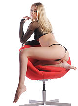 Aria strips out of her mesh panties and straddles your office chair. State hello for your brand new secretary!
