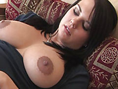 Long Hard Nipples, Julie fucks a big sex toy
