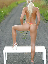 big butts, Kathy, Naked in Nature